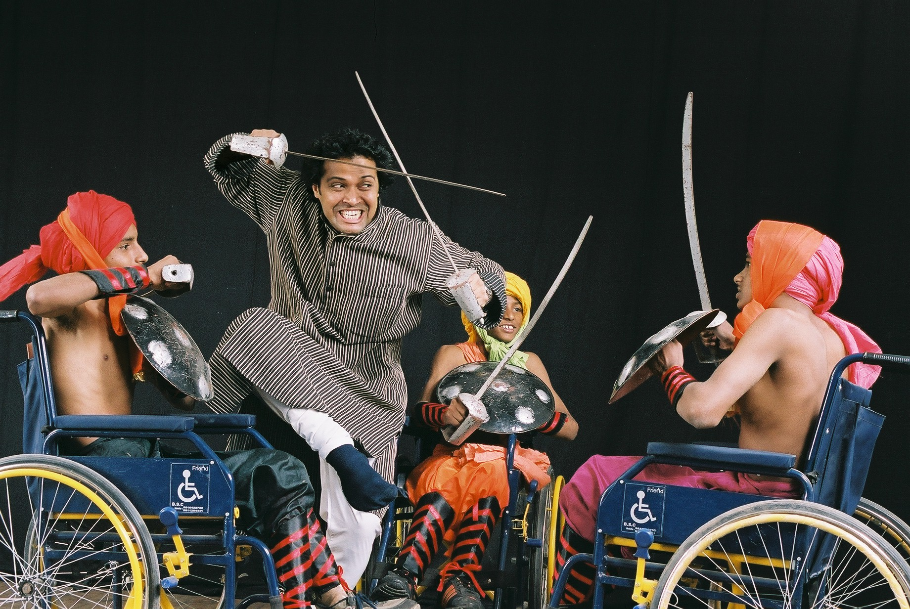 3. syed sallauddin Pasha Training Differently Abled On Wheelchairs