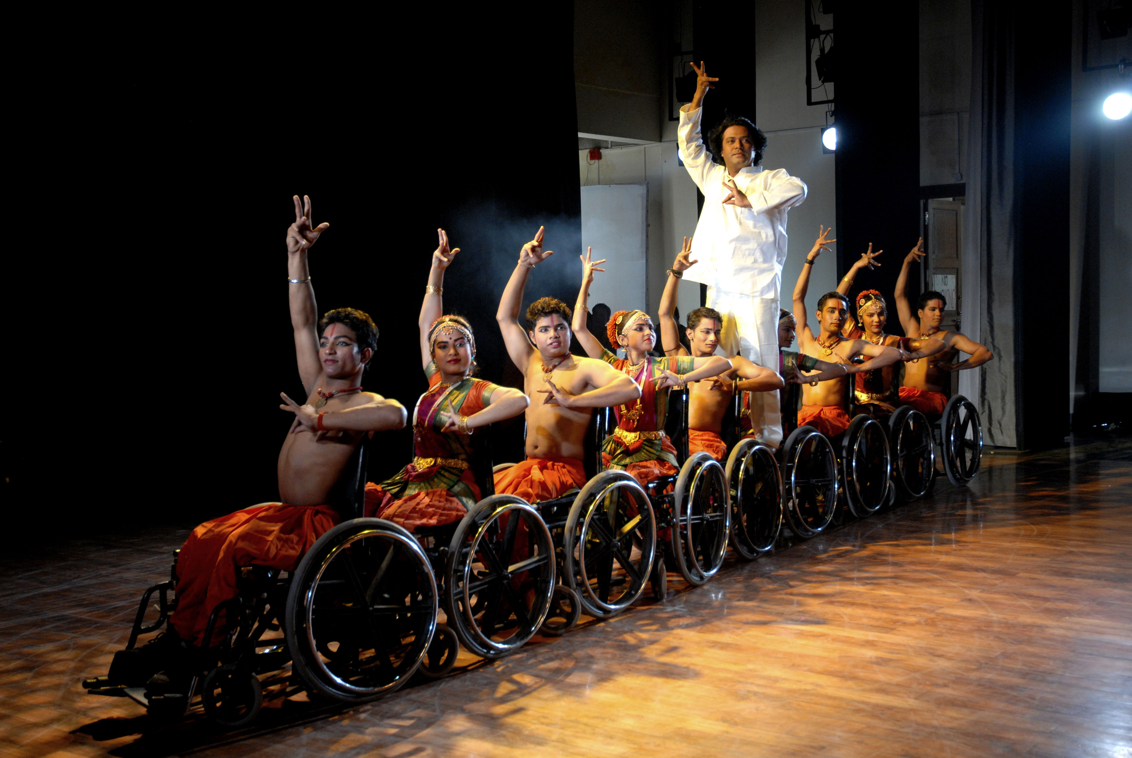 8. syed sallauddin Pasha Training Differently Abled On Wheelchairs